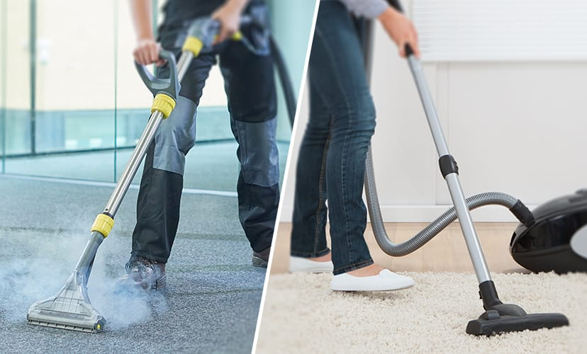 The floor covering Carpet cleaning